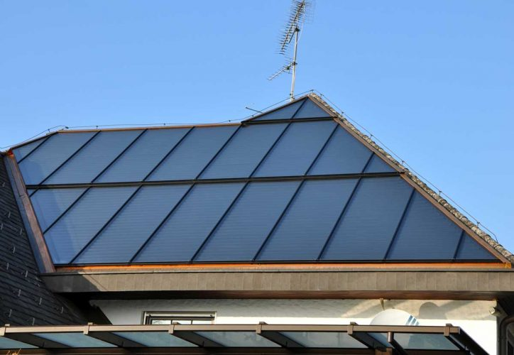 Solar roof in customized dimensions