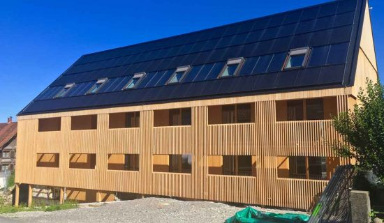 Solar fotovoltaics + solar thermal + skylight